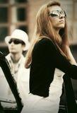 Молодые пары моды в конфликте Стоковое Фото