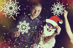Молодые пары на партии Стоковые Фото