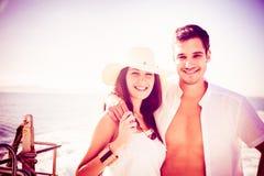 Молодые пары на шлюпке Стоковые Фотографии RF