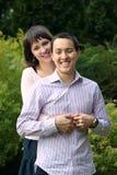 Молодой обнимать пар Стоковое фото RF