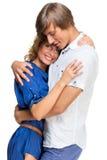 Молодые пары обнимая один другого Стоковое фото RF