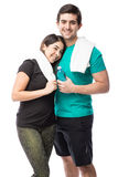 Молодые пары работая совместно Стоковое Фото