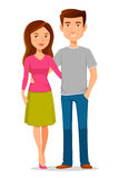 Молодые пары шаржа иллюстрация штока
