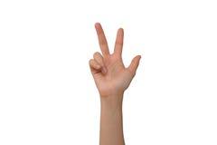 Молодые пальцы права 3 Ladys Стоковое Изображение