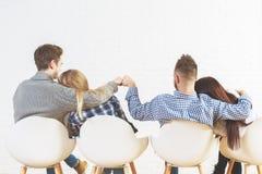 Молодые предприниматели подпирают взгляд Стоковое Изображение