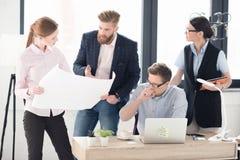 Молодые предприниматели работая совместно Стоковые Изображения