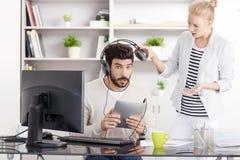 Молодые профессионалы на офисе Стоковое Изображение
