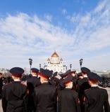 Молодые русские солдаты Стоковые Фотографии RF