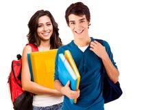 Молодые счастливые студенты Стоковая Фотография