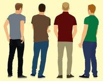 Молодые человеки от позади Стоковое Изображение