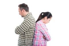 Молодые любовники не говоря друг к другу Стоковое Изображение RF