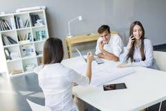 Молодые люди в офисе Стоковые Фотографии RF