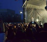 Молодые люди на концерте стоковые изображения rf