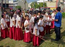 Молодые люди оркестра для музыки традиционного китайския Стоковые Фотографии RF