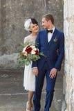 Молодые люди пар как раз пожененные славные Стоковые Изображения