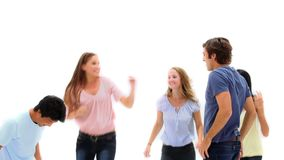 Молодые люди скакать Стоковые Изображения