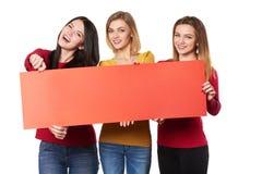 Молодые люди с знаменем Стоковая Фотография RF