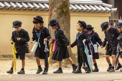 Молодые японские зрачки Стоковое Изображение RF