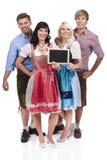 4 молодых баварских люд Стоковые Изображения
