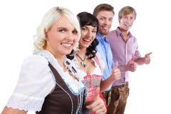 4 молодых баварских люд Стоковое Изображение RF