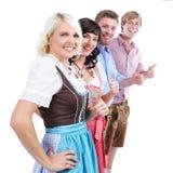 4 молодых баварских люд Стоковая Фотография RF