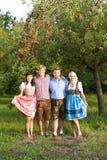 4 молодых баварских люд Стоковое фото RF