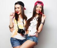 2 молодых милых девушки битника Стоковые Фотографии RF