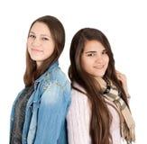 2 молодых подруги Стоковое Изображение
