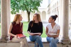 3 молодых друз женщин совместно Стоковая Фотография RF