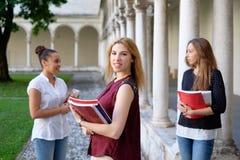 3 молодых друз женщин совместно Стоковое Изображение