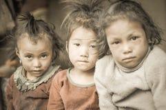 3 молодых стороны в Непале Стоковые Изображения RF