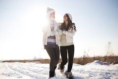 2 молодых счастливых женщины, 2 друз, имеющ потеху Стоковые Изображения