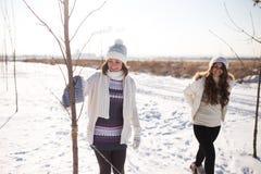2 молодых счастливых женщины, 2 друз, имеющ потеху Стоковое Изображение RF