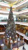 Мол прогулки празднества рождественской елки, Гонконг Стоковые Фото