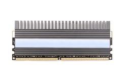 Модуль микросхемы памяти компьютера RAM с Heatsink Стоковое фото RF