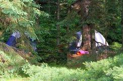 Молчаливое место для лагеря в утре стоковое изображение