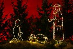 Молчаливой кормушка загоренная ночой Стоковая Фотография