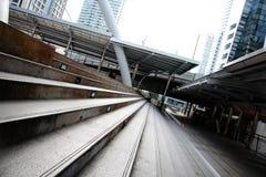 Молчаливый путь на BTS Chong Nonsi Бангкоке Таиланде Стоковое Изображение