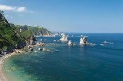 Молчаливый пляж, Испания Стоковая Фотография
