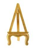 Мольберт картинной рамки золота Стоковое фото RF