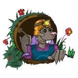 Моль персонажа из мультфильма Стоковая Фотография