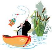 Моль рыбной ловли иллюстрация вектора