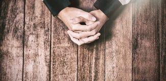Моля руки женщины Стоковое фото RF