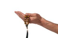Моля руки с розарием Стоковые Изображения RF