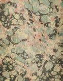 Мраморизованная античная текстура бумаги форзаца Стоковые Фотографии RF