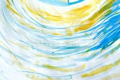 Мраморизованная голубая абстрактная предпосылка Жидкостная мраморная картина стоковое изображение