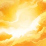 Мраморизованная картина предпосылки белизны и золота стоковое изображение
