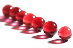 мраморизует красный цвет Стоковое Изображение RF
