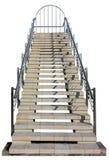 Мраморная изолированная лестница Стоковые Изображения
