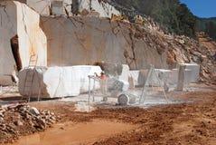 Мраморная машина карьера для пиля мрамора Стоковая Фотография RF